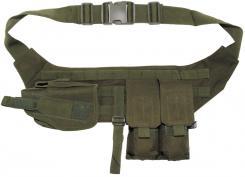 Brustgurt mit Pistolenholster und Magazintasche, oliv