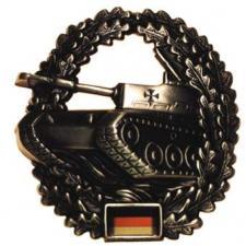 BW Barettabzeichen, Panzertruppe, Metall