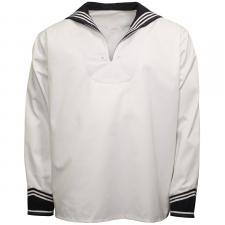 BW Marinehemd, weiß, mit Marinekragen, langarm