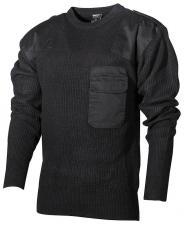 BW Pullover, mit Brusttasche,  schwarz