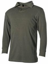 BW Rollkragenhemd, Mod., oliv mit Reißverschluss