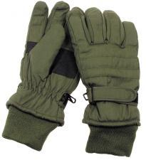 Fingerhandschuhe, oliv, Thermofütterung