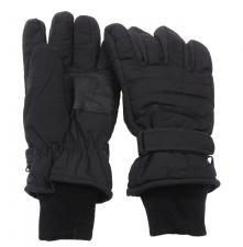 Fingerhandschuhe, schwarz, Thermofütterung