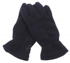 Fleece-Fingerhandschuhe, schwarz, gefüttert