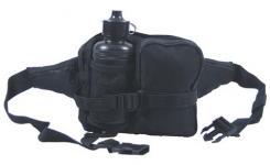 Hüfttasche mit Trinkflasche, schwarz, mit div.Taschen