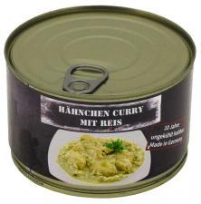 Hähnchen Curry mit Reis, Vollkonserve, 400 g, 7% Mwst.