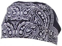 Headwrap, paisley-navyblau