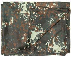 "Mehrzweckplane, ""Tarp"", flecktarn, ca. 300 x 400 cm"