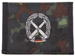Nylongeldbörse, flecktarn, Artillerie, Klettv., Ausweisf.