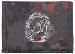 Nylongeldbörse, flecktarn, Fallschirmj.,Klettv.,Ausweisf.