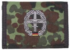 Nylongeldbörse, flecktarn, Heeresflieg.,Klettv.,Ausweisf.