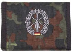 Nylongeldbörse,flecktarn,Heer- esflugabw.,Klettv.,Ausweisf.