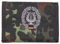 Nylongeldbörse, flecktarn, Musikkorps, Klettv., Ausweisf.