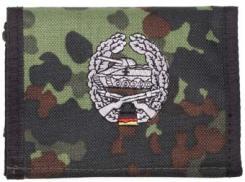 Nylongeldbörse, flecktarn, Panzergr., Klettv., Ausweisf.