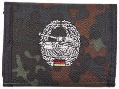 Nylongeldbörse, flecktarn, Panzer, Klettv., Ausweisf.