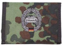 Nylongeldbörse, flecktarn, Panzerjäger, Klettv.,Ausweisf.