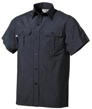 Outdoor Hemd, kurzarm, schwarz, Microfaser