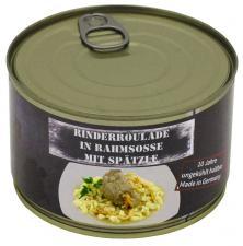 Rinderroulade mit Spätzle, Vollkonserve, 400 g, 7% Mwst.