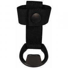 Schlagstockhalter, Nylon, mit Ring, schwarz