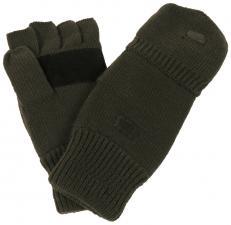 Strick-Handschuhe,ohne Finger, zugl. Fausthandschuh, oliv