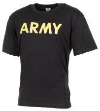 """T-Shirt, bedruckt, """"Army"""", schwarz"""