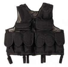 Tactical Weste, Netzeinsatz, schwarz, größenverstellbar