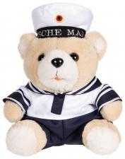 "Teddybär, ""Marine"", mit Anzug und Kappe, ca. 28 cm"