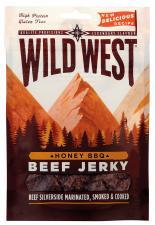 Trockenfleisch Wild West, Beef Jerky Honey BBQ, 70 g, 5% Mwst.