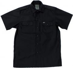 US Hemd, kurzarm, schwarz