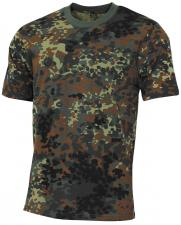 "US T-Shirt, ""Streetstyle"", flecktarn, 140-145 g/m²"