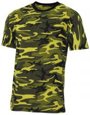 "US T-Shirt,""Streetstyle"", gelb-camo, 140-145 g/m²"