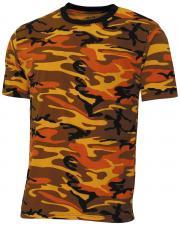 "US T-Shirt, ""Streetstyle"", orange-camo, 140-145 g/m²"