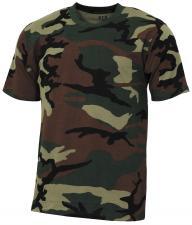 "US T-Shirt, ""Streetstyle"", woodland, 140-145 g/m²"