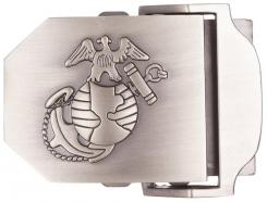 USMC Gürtelschloss, silber,   Metall, ca. 4 cm