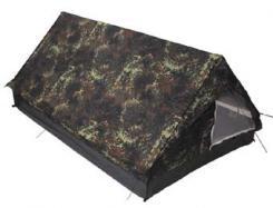 """Zelt, """"Minipack"""", flecktarn, Gr. 213x137x97cm, Moskitonetz"""