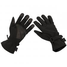 Fingerhandschuhe, Softshell, schwarz