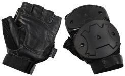 Handschuhe, ohne Finger, Knöchelschutz, schwarz