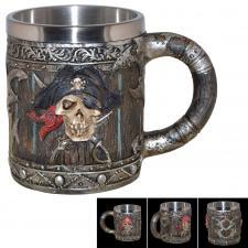 große Tasse / Piraten-Krug Skull Cup Pirat ca 400ml