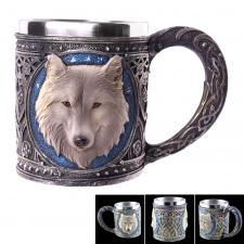 große Tasse / Wolf-Krug Fantasy Becher ca 400ml