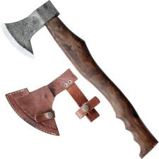 urige Axt f Mittelalter Lager zum Holz hacken Fingermulden Lederschutz 675g