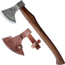 urige Axt für Mittelalter Lager zum Holz hacken mit Lederschutz 875g
