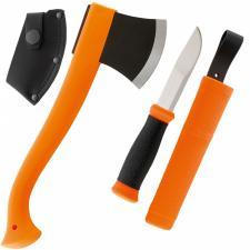 Mora Combi 2001,Beil und Messer,rostfreier  Beil beschichtet,Messer + Scheide