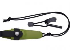 Morakniv ELDRIS Neck Knife, Sandvik-Stahl 12C27, grün, Survival Feuerstarter