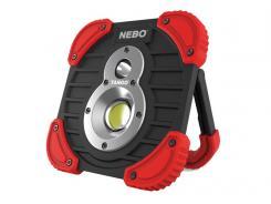 NEBO LED Arbeitslampe TANGO, Spot- und Arbeitslicht, dimmbar, wasserresistent, wiederaufladbarer Lithium Ionen Akku