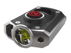 NEBO LED Schlüsselanhänger partiell schwarz eloxiertes Alu,, spritzwassergeschützt, USB Ladekabel, Edelstahl-Umhängekette