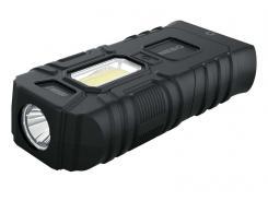 NEBO LED Taschenlampe ARMOR 3, 360 Lumen, schwimmfähig,, magnetische Kippbasis, wasserdicht IPX7, 3 Batterien AAA