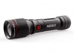 NEBO LED Taschenlampe REDLINE FLEX, 4-Lichtmodi, Flex-Fuel,, 6-fach verstellbarer Zoom, Akkustandsanzeige, USB-Ladekabel