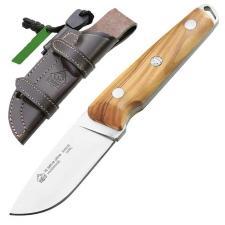Puma IP Outdoor-Messer la selva olive, Full Tang, Feuerstarter, Lederscheide