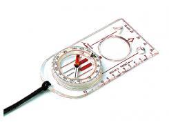 SUUNTO ARROW-30 Linealkompass, 360-Grad-Einteilung, schnell eindrehende Kompassnadel, Lupe, Millimeterskala