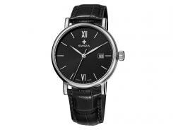 Swiza Armband Uhr Alza Gent, Schweizer Laufwerk, 316L, Datum, Leder Band